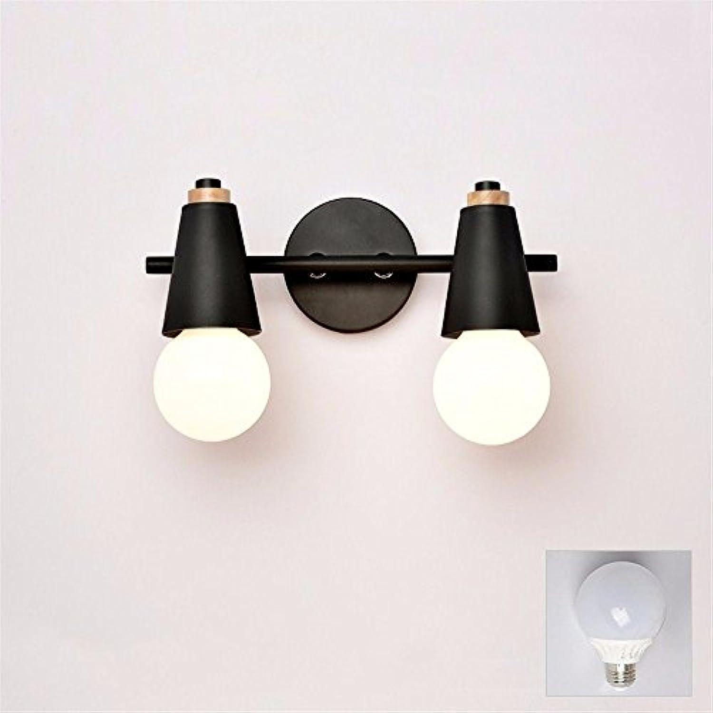 StiefelU LED Wandleuchte nach oben und unten Wandleuchten Glasfront hellen Glas Wand lampe Spiegel Lampe wc-led, b, schwarz