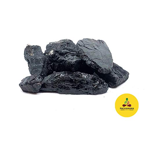 Schwarzer Turmalin-Kristall mit 0,9 kg, roh, natürlicher schwarzer Turmalin-Stein – Heilstein