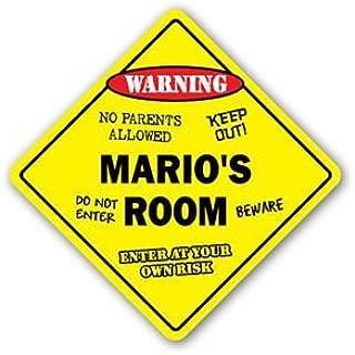 MARIO'S ROOM Sticker Sign kids bedroom decor door children's name boy girl gift - Sticker Graphic Personalized Custom Sticker Graphic