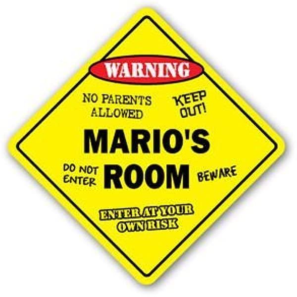 MARIO S ROOM Sticker Sign Kids Bedroom Decor Door Children S Name Boy Girl Gift Sticker Graphic Personalized Custom Sticker Graphic
