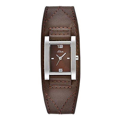 s.Oliver Damen-Armbanduhr Analog Quarz Leder SO-15037-LQR