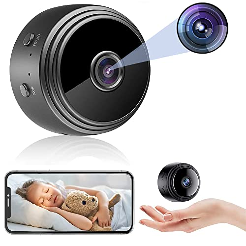 Spy Camera WiFi Wireless Video Camera 1080P HD Home Security Surveillance Cameras,Mini Cameras with Audio and Video,Hidden Portable Nanny Camera,Tiny Cameras for Indoor/Outdoor/Car Using