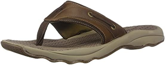 Sperry Mens Outer Banks Thong Sandals, Brown, 11