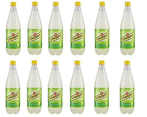 12x Schweppes limone Zitrone Lemonade PET 1 Lt erfrischend