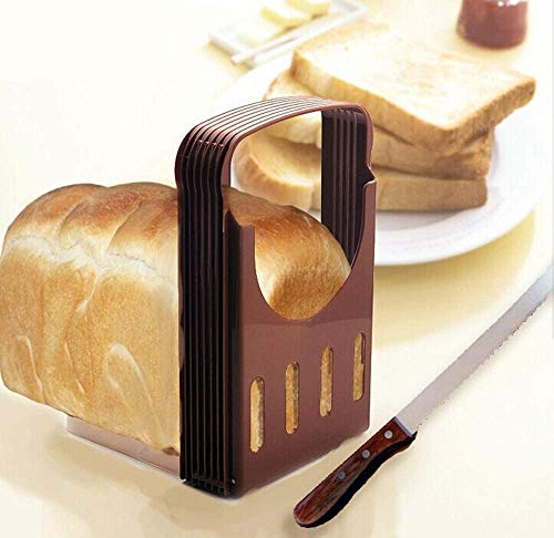 Bread Slicer Foldable Bread Cutting Guide with 4 Slice Thicknesses Mold, Bread Bagel Loaf Sandwich Cutter Slicer Toast Slicing Machine