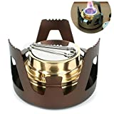 Outgeek Camping Stove Portable Alcohol Stove Backpacking Stove for Outdoor Hiking