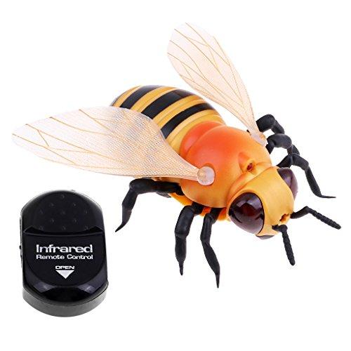Baoblaze Elektrische Lustige Biene Fly Marienkäfer Insekte Spielzeug mit Infrarot Fernbedienung - Biene