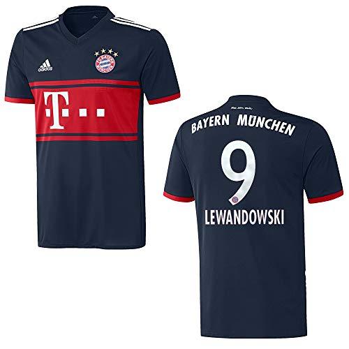 adidas Bayern Trikot Away Herren 2018 - Lewandowski 9, Größe:S