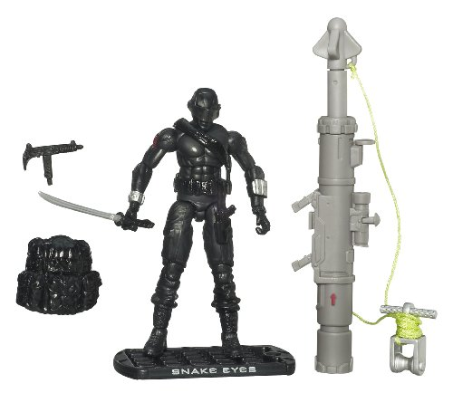 G.I. Joe The Rise of Cobra 3 3/4 Action Figure Snake Eyes Ninja Commando'