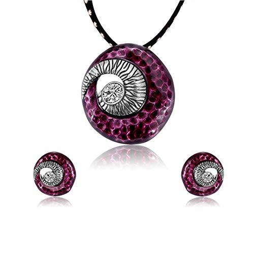 Xinmeitezhubao Schmuckset/Ethno-Stil Halskette Ohrringe Schmuckset/Brautschmuck Hochzeit Zweiteiler