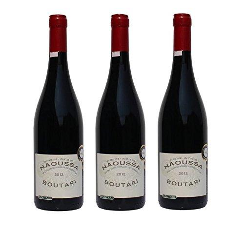 3x Boutari Naoussa g.U. griechischer Rotwein trocken je 0,75L Xinomavro Genießer Set + Probiersachet 10ml kretisches Olivenöl