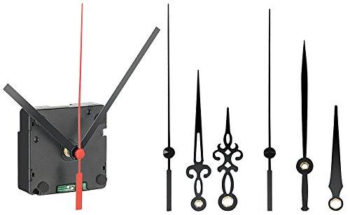 St. Leonhard Funkuhrwerk Wanduhr: Funk-Uhrwerk mit 3 Zeigersets für selbstgestaltete Uhren (Funkuhrwerk mit Zeiger)