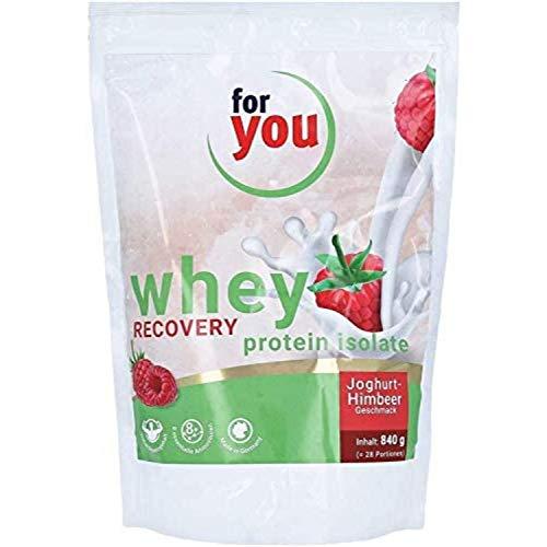 for you whey protein isolate recovery I 8 essentielle Aminosäuren für schnellere Aufnahme und Regeneration I 28 Portionen 840g Proteinpulver Muskelaufbau Whey I Protein Eiweißpulver Joghurt-Himbeer