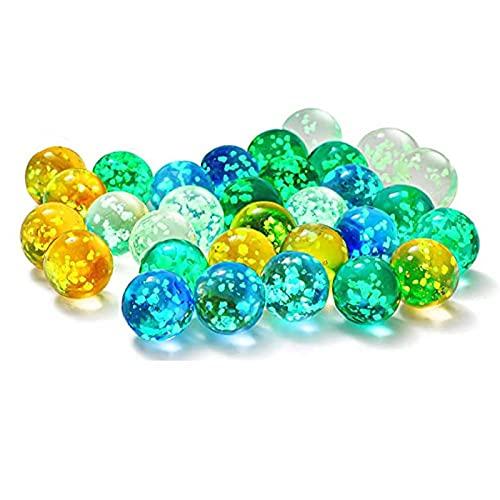AUCYV 20 piezas de mármol de vidrio luminoso para niños – las canicas oscuras para correr de mármol,juego de mármol brillante de vidrio para niños,bricolaje y decoración del hogar,bolas de decoración