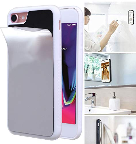 Anti Gravity Phone Case for iPhone 8 with Dust Proof Film, Magic Nano Hands Free Stick to Wall Anti-Gravity Case AntiGravity Case for iPhone 7 (White)