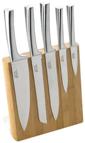 Pradel Jean Dubost 18521 Bambus-Messerblock mit 5 Edelstahl-Messern