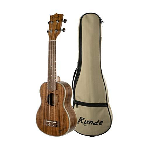 """Ukelele Kunde Moon 21"""" Soprano fabricado con madera de Koa de alta calidad y cuerdas Aquila. Funda acolchada 5mm incluida."""