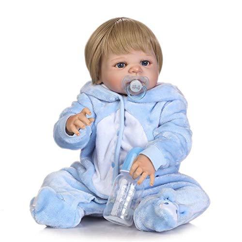 HWZZ 22 Zoll Lebensechte Wiedergeborene Babypuppe Baby Echtes Silikon Vinyl Material Geeignet Für Neugeborene Geburtstagsgeschenk Alter Spielzeug Geschenk,57cm