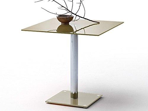 möbelando Esszimmertisch Glastisch Küchentisch Bistrotisch Tisch Esstisch Charita I Taupe