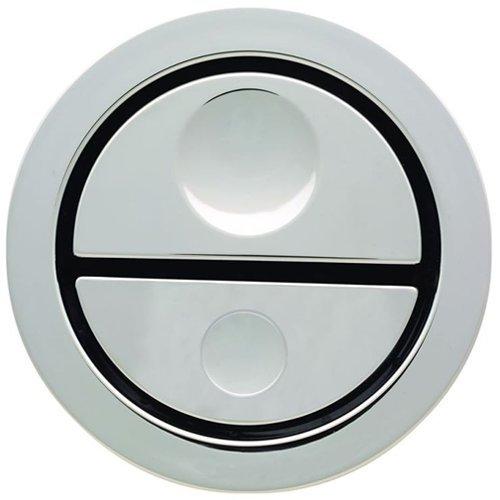 Geberit 241.413.21.1pneumatico a doppio scarico cromato wc pulsante per cassette AP109–Multicolore