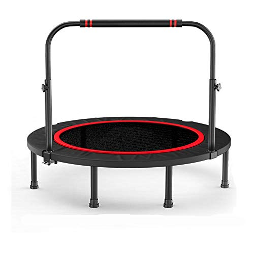 JKHK Fitness Trampoline for Adults Foldable Mini Trampoline for Kids with Adjustable Foam Handle Bar 48 / 40in in the Gym or Home Outdoor