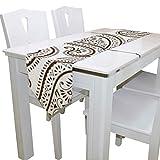N/A Esstischläufer oder Kommode Schal, kunstvoller Paisley-Tischläufer für Hochzeit, Party, Bankett, Dekoration, 33 x 229 cm