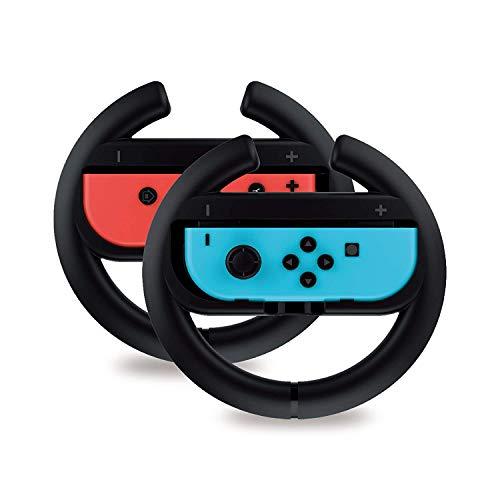 Controlador de volante para Nintendo Switch 2 PackRacing Games Acessórios Joy Con Controller Grip para Mario Kart, preto