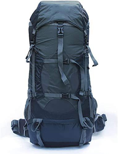 Mochila de senderismo montañismo bolsa al aire libre de gran capacidad impermeable y resistente al desgarro mochila de viaje camping bolsa de hombro ligera de aleación de aluminio soporte de 80 l