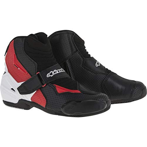 Alpinestars SMX-1 R Vented Boots (39) (BLACK/WHITE/RED)