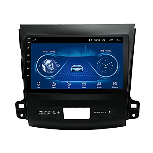 ZHANGYY Radio de Coche estéreo Android 8.1 PlayerNavigator Compatible con Mitsubishi Outlander (2006-2013), GPS de 9 Pulgadas 2.5D Full Touch Sn, WiFi, BT, Mirror Link