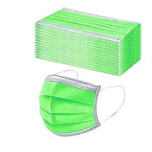 50 Pezzi Adulto Protezione per Mascherine Monocromo USA e Getta Il Viso 3 Strati Stampa Colorate Tessuto Cotone Antipolvere Visiera Bocca Faccia Adatto Regolabile Disegni Comfort Traspirante