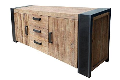 Sit Möbel Croco 11403-01 Sideboard Recyceltes Teakholz Braun 192 x 45 x 85 cm