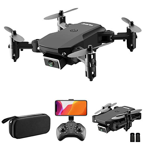 GoolRC S66 Mini Drone with 4K HD Camera, Foldable WiFi FPV Drone for Kids and Adults, RC Qudcopter with Optical Flow Positioning, Headless Mode, Altitude Hold, 3D Flip, Storage Bag and 2 Batteries