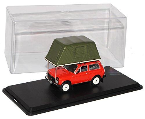 Ixo Lada Niva Rot mit Dachzelt 1981 295 1/43 Modell Auto