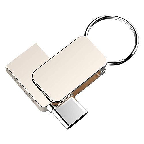 Unidad Flash USB Tipo C Unidad Flash para teléfono móvil Computadora giratoria de Metal Mini Disco U para tabletas y computadoras móviles (Color: Color de la Foto Tamaño: 64G)