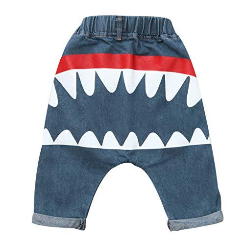 Poachers Poachers Kleinkind Kinder Baby Jungen MäDchen Cartoon Shark Harem Jeans Denim Hosen Hose