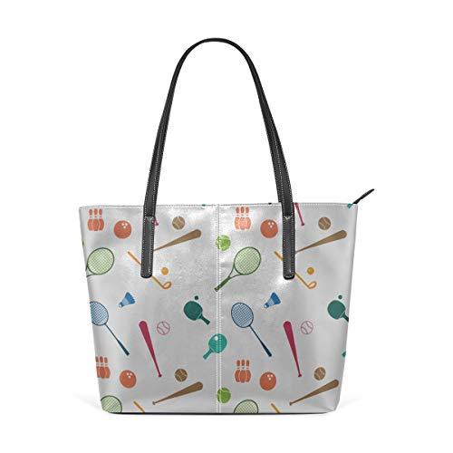 Cheap Handbags For Women Badminton Racket And Tennis Racket Pu Leather Waterproof Modern Tote Bag Messenger Bag Crossbody Best Shoulder Bag
