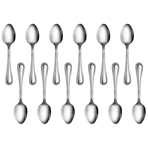 New Star Foodservice 58147 Slimline Pattern, 18/0 Stainless Steel, Teaspoon, 6-Inch, Set of 12