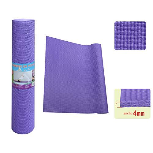 ALLPER Esterilla para Yoga Universal, Multiusos de Alta Densidad, Antideslizante, TAMAÑO: 173 x 61 x 0,4 cm. Color Morado.