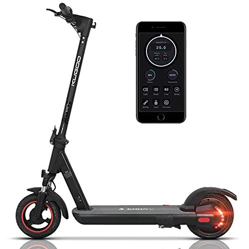 AZAMPA Elektroroller Erwachsene Elektro Scooter 500W E Roller 36V 13AH Batterie Elektroroller 40km Elektro Roller mit LED-Licht, 10 Zoll Reifen elektroscooter mit App-Steuerung, Kugoo G1