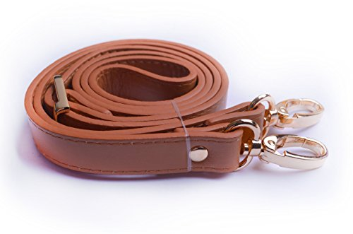 Material : Synthetic leather(Camel),Metal hardware Adjustable length: approx 43''-49'' (including snap hooks) Band Width: 0.7'' (Double-layer taping) Usage : Synthetic leather adjustable cross body purse strap (Handbag lays approximately at the hip f...