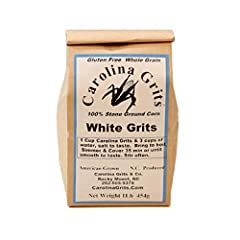 ALL NATURAL: Carolina Grits are certified gluten free using whole grain American corn and have no added preservatives or chemicals; only the good stuff. TRADITIONALLY STONE GROUND: Our grits are USDA certified with updated manufacturing processes; no...