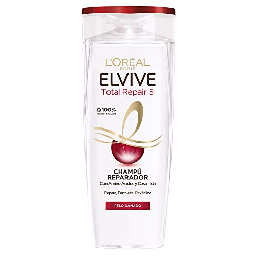 L'Oreal Paris Elvive Total Repair 5 Champú Reparador para El Pelo Dañado - 285 ml