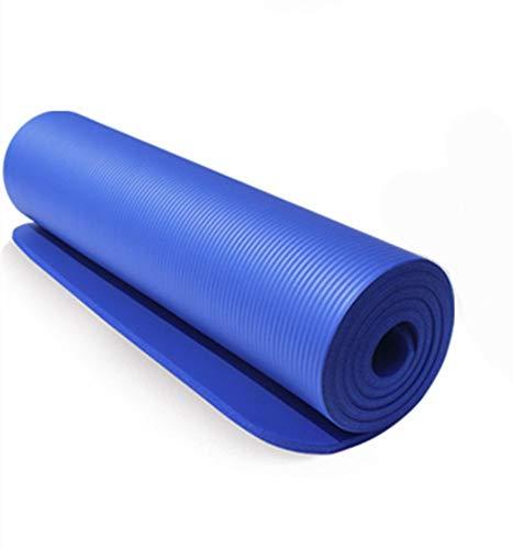 WLWW Grande materassino da Yoga Extra Spesso Pilates Ginnastica Confortevole Esercizio stuoia Portatile da Viaggio Palestra Fitness Protezione Ambientale Antiscivolo Uomini e Donne, Blu