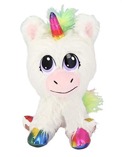 """Juguetes de Bauer """"Rescue Runts"""", unicornio (18013): tu nueva mascota para adoptar, cuidar y amar, peluche de color blanco, aprox. 23 cm. , color/modelo surtido"""