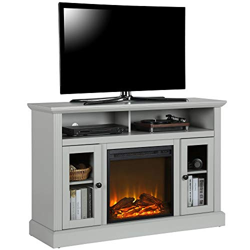 Ameriwood Home Chicago TV Stand with Fireplace