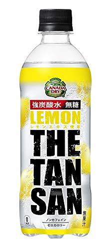 【強炭酸水】コカ・コーラ カナダドライ 新 ザ・タンサン レモン 490mlPET×24本