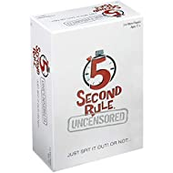 PlayMonster 5 Second Rule Uncensored -- Just Spit it Out... Or Not -- Quick Thinking Party Game -- Adult Humor -- Ages 17+