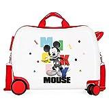 Disney Mickey´S Party Maleta Infantil Blanco 50x38x20 cms Rígida ABS Cierre de combinación Lateral 34L 3 kgs 4 Ruedas...
