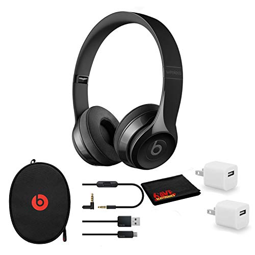 Beats by Dr. Dre Beats Solo3 Wireless On-Ear Bluetooth Headphones (Gloss Black/Core) - Kit with USB Adapter Cube